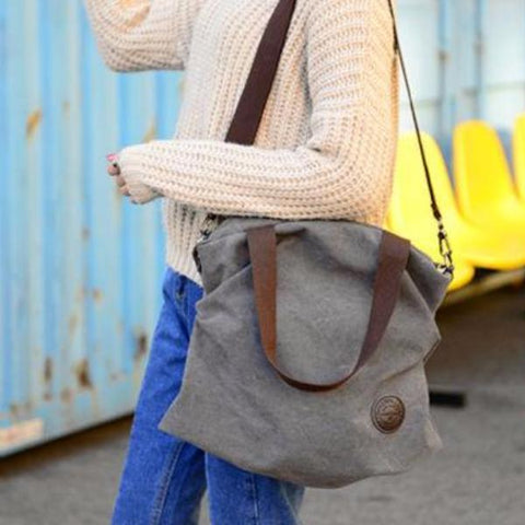 Retro Fashion Large Capacity Messenger Shoulder Bag