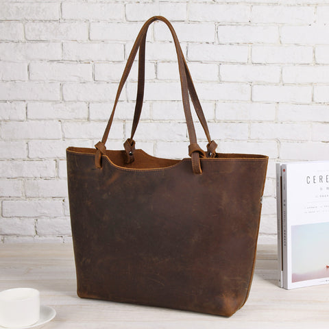 Retro Leather First Layer Cowhide Handbag