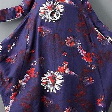 Casual Floral Print Retro Dress