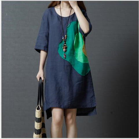 Asymmetrical Mini Ethnic Dress