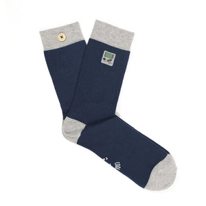 socks Men jolie game boy bleu bouton imperdables