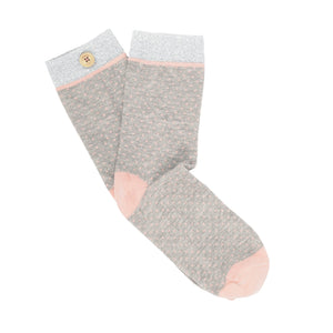 socks Women jolie rose grey bouton imperdables
