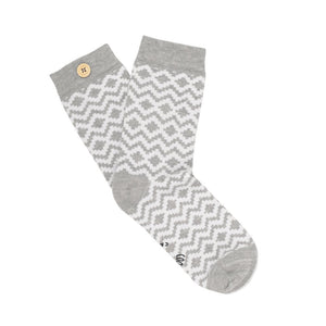 socks Women jolie blanc grey bouton imperdables