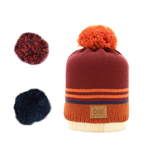Beanie kids Men adulte Women Bobble français