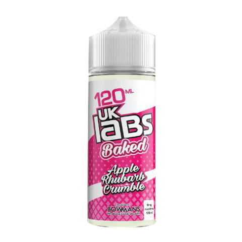 UK Labs 120ml Shortfill Apple Rhubarb Crumble Vape E-Liquid