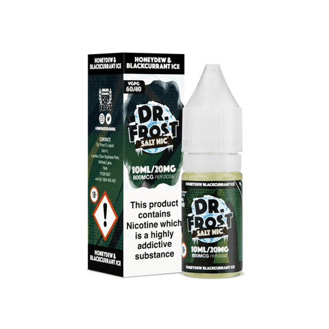 Dr. Frost Nicotine Salt - Honeydew Blackcurrant Ice 10ml Bottle