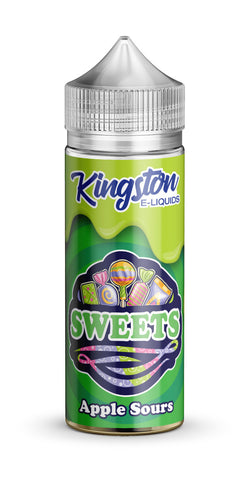 Kingston 120ml Shortfill Apple Sours Vape E-Liquid