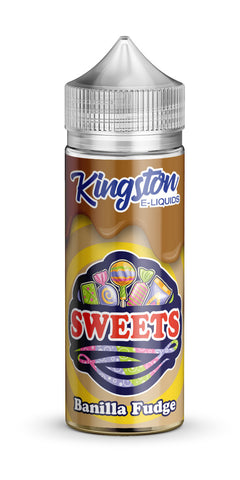 Kingston 120ml Shortfill Banilla Fudge Vape E-Liquid