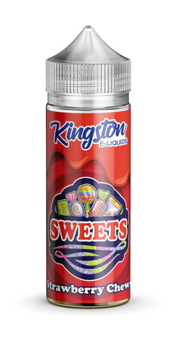 Kingston 120ml SHortfill Strawberry Chews Vape E-Liquid