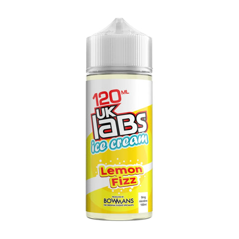 UK Labs 120ml Shortfill Lemon Fizz Ice Cream Vape Liquid