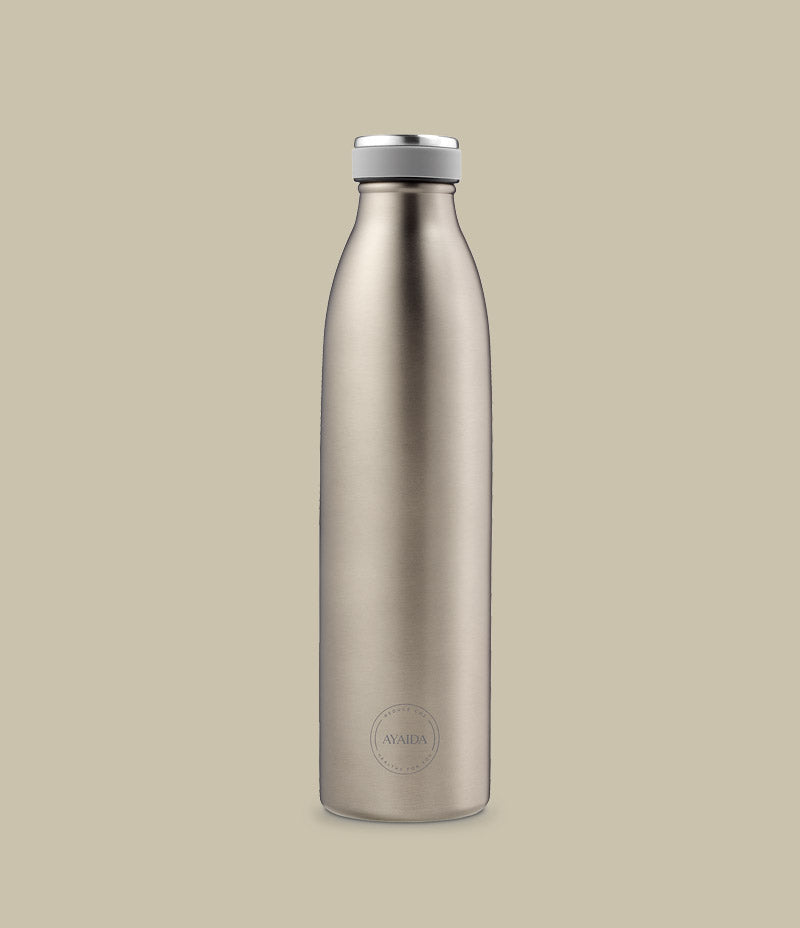 Ayaida 750ml cool grey reusable water bottle - Nor–Folk