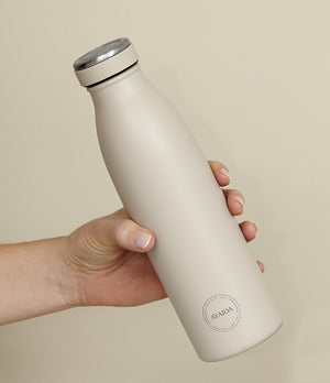 Ayaida 500ml beige reusable water bottle - Nor–Folk