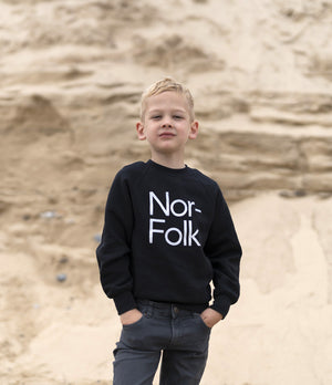 Kids Nor–Folk Black Sweater, Norfolk