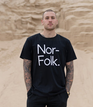Nor–Folk Basics Adult Tee – Black - Nor–Folk