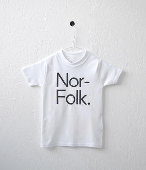 Nor–Folk Basics – Kids White Tee - Nor–Folk