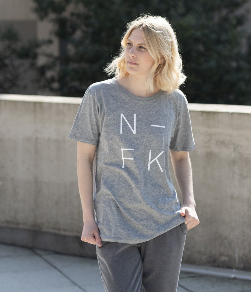 N-FK Adult Tee - Grey - Nor–Folk