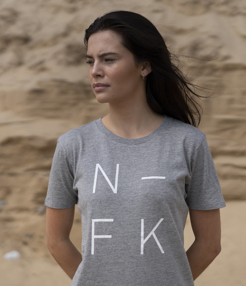 N-FK Adult Tee - Grey (XS only) - Nor–Folk