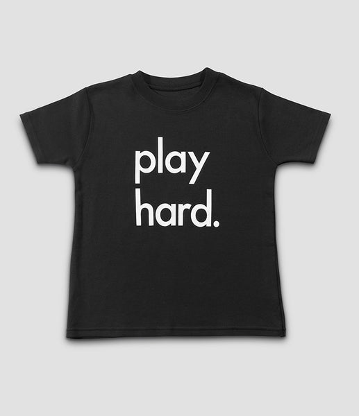 Play Hard Tee – Black