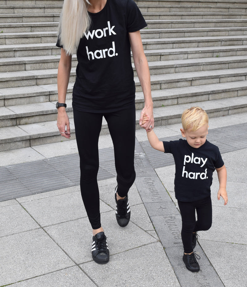 Work Hard Adult Tee - Black - Nor–Folk