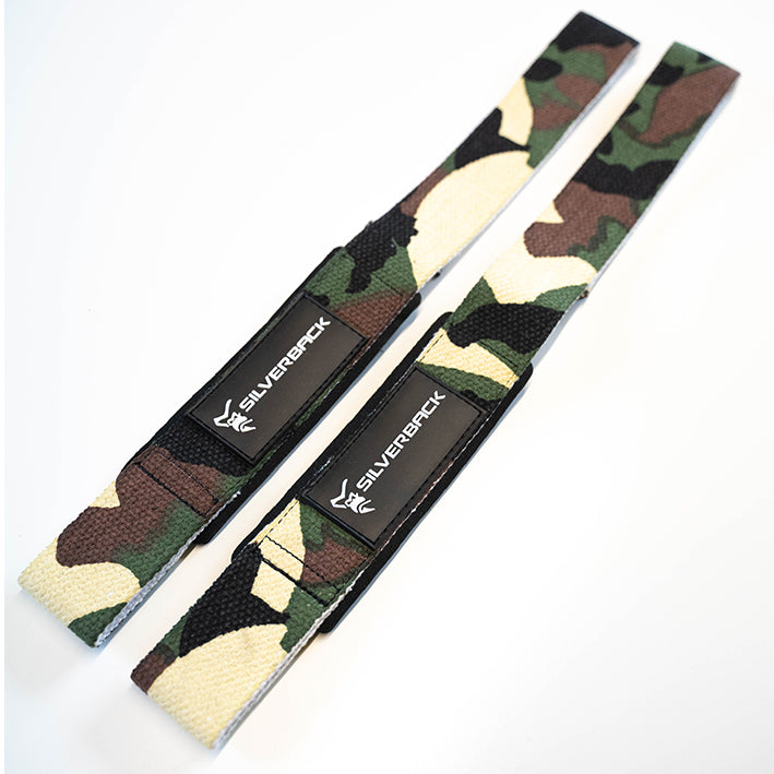 Silverback Heavy Duty Green Camo Lifting Straps