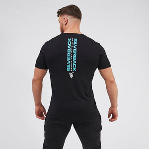 Duo Spine Aqua on Black - T-Shirt