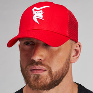 Silverback Mesh Detail Cap - Red