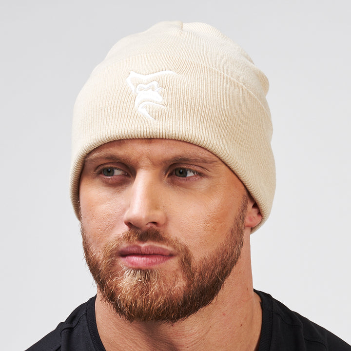 Silverback Embroidered High Cuff Beanie Vanilla