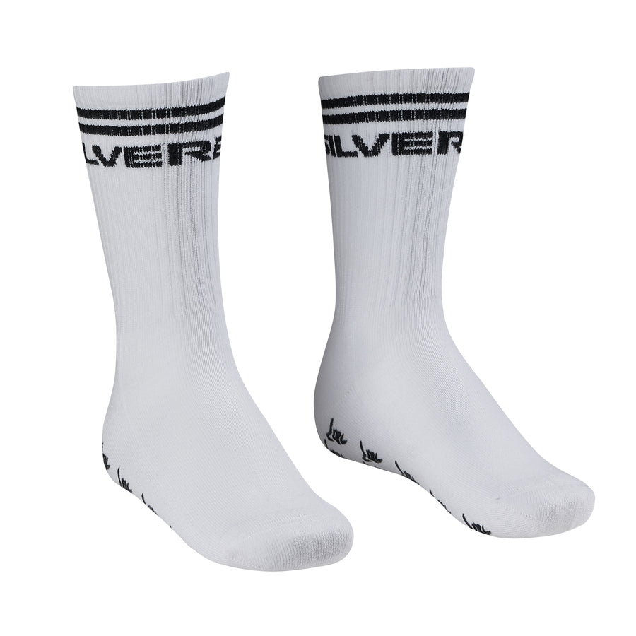 Silverback Gripper Squat Socks White