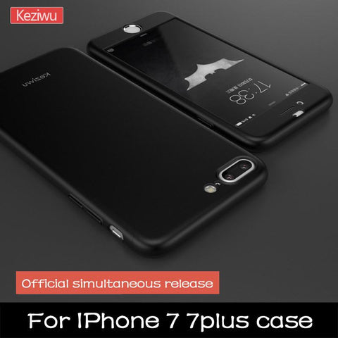 Apple iPhone 7, 7 Plus Full Protection Case with Front Tempered Glass