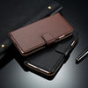 Apple iPhone 7, 7 Plus Flip Genuine Leather Wallet Case