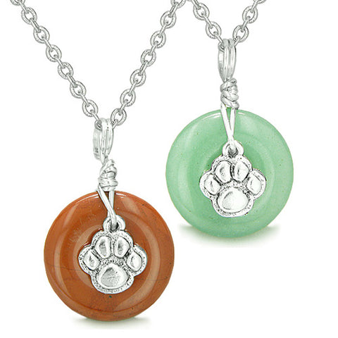 925 Silver and Natural Gemstones Lucky Crystal Amulet Necklaces and Jewelry