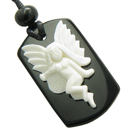 Guardian Angel Unique Dog Tag Protection Energy Jewelry Amulets and Talismans