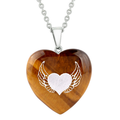 Guardian Angel Heart Shaped Magical Protection Energy Jewelry Amulets and Talismans