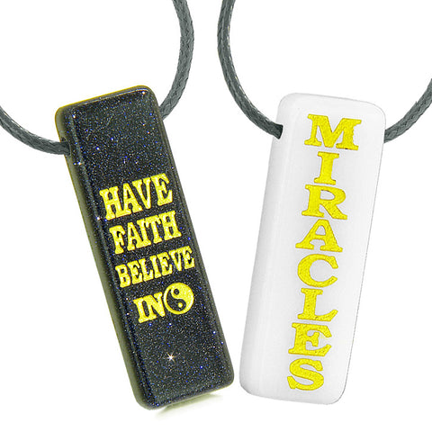 Have Faith Believe in Miracles Inspirational Tags Jewelry and Amulets