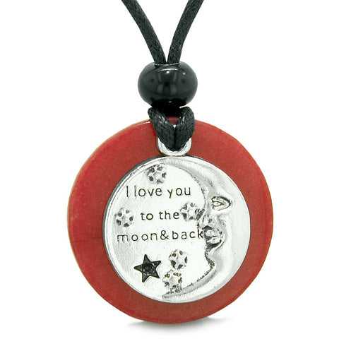 Inspirational I Love You To The Moon and Back Jewelry Amulets and Talismans