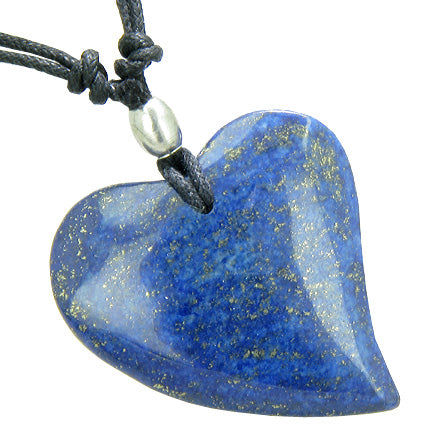 Lapis Lazuli Natural Gemstone Good Luck and Protection Heart Shaped Jewelry and Gifts