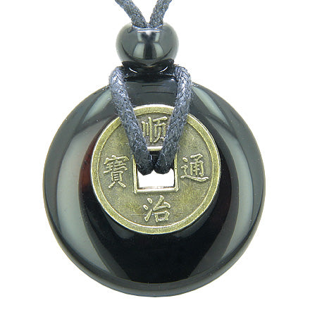 Spiritual Protection Talisman Lucky Coin and Donut Jewelry