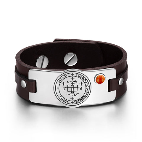 Archangel Sigil Amulet Leather Bracelets