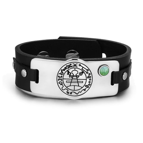 Secret Seal of Solomon Unique Amulet Leather Bracelets