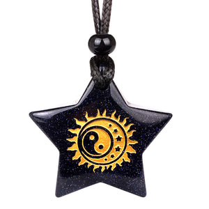 Lucky Star And Pentacle Charms