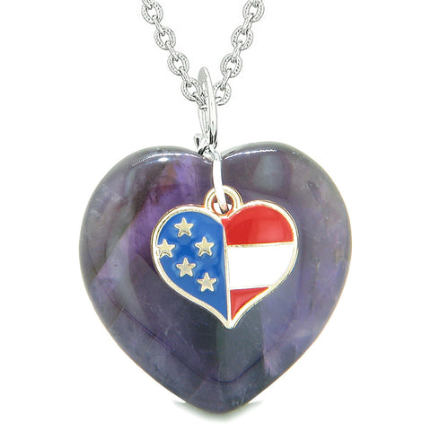 Travel Protection Talisman Amethyst and Purple Quartz American Pride Jewelry