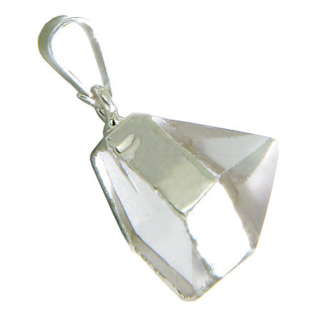 Brazilian Lucky Rock Quartz Crystal Point Charm Evil Eye Protection Amulet Gemstone Pendant
