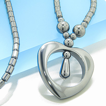 Protection Hematite Heart Necklace
