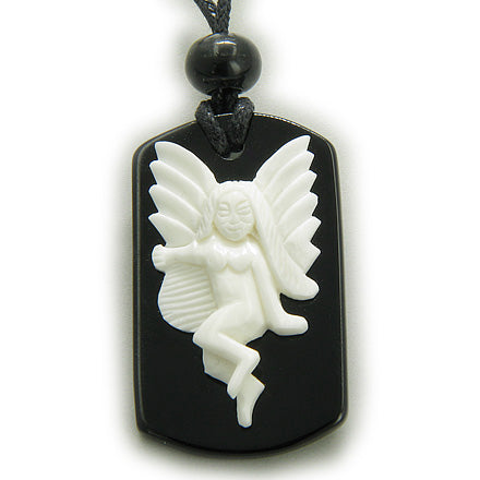 Fairy Angel Spiritual Protection Magic Talisman Tag Necklace