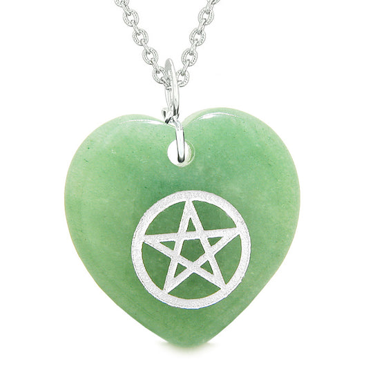 Amulet Magical Pentacle Protection Powers Puffy Heart Energy Green New Heart Touching Qua