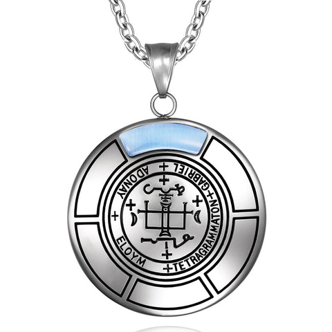 Sigil of Archangel Gabriel Magic Medallion Angel Amulet Pendant Necklace