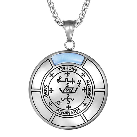 Sigil of Archangel Michael Magic Medallion Angel Amulet Pendant Necklace
