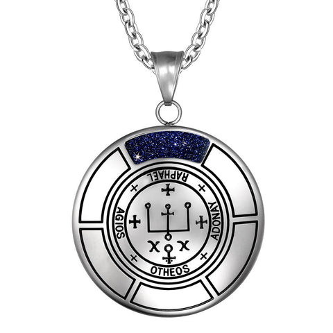 Sigil of Archangel Raphael Magic Medallion Angel Amulet Pendant Necklace