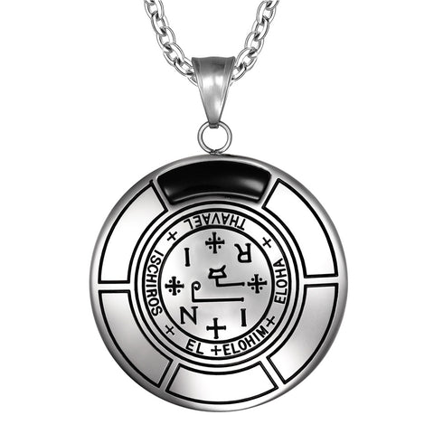 Sigil of Archangel Thavael Magic Medallion Angel Amulet Pendant Necklace