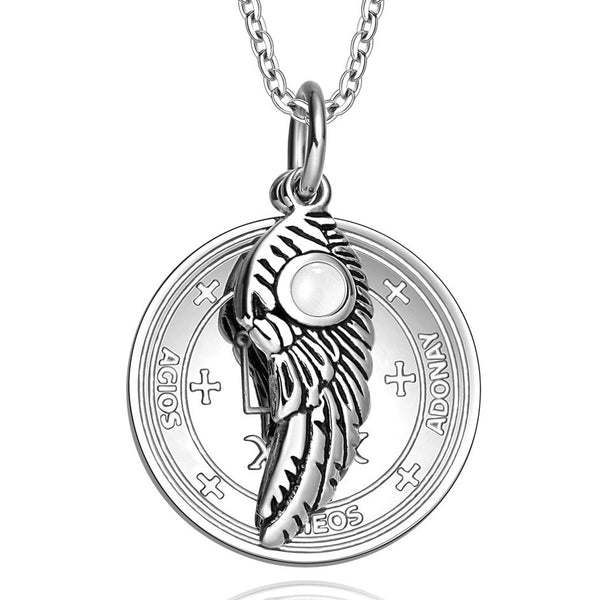 Archangel Raphael Sigil Magic Wing Amulet